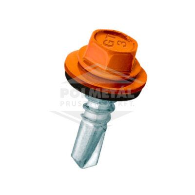 Hatlapfejű lemezcsavar fához EPDM alátéttel - 4,8 mm - többféle színben és méretben